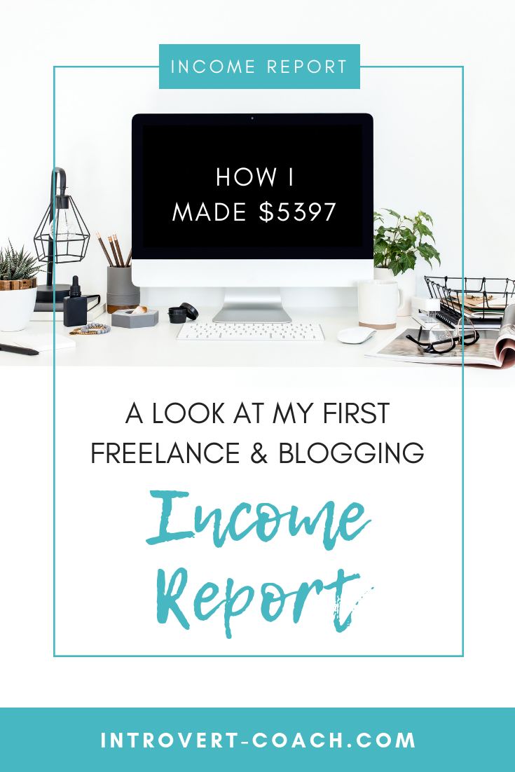 Income Report for Blogging and Working from Home as a Virtual Assistant