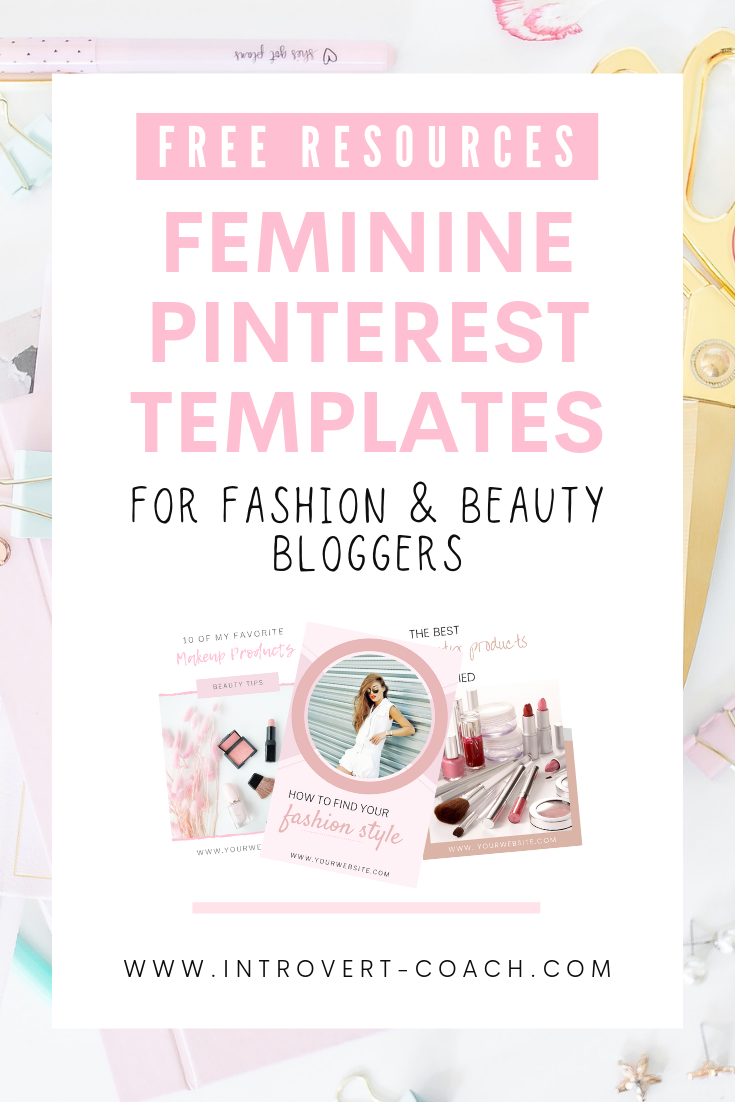 Free Feminine Pinterest Templates for Bloggers