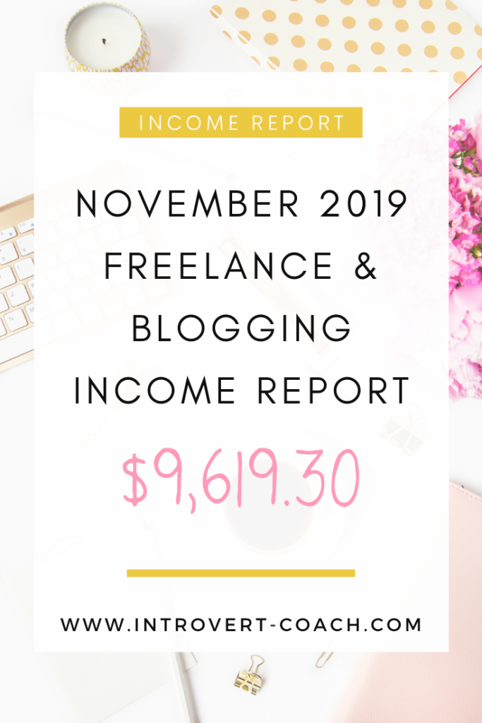Freelance and Blogging Income Report for November 2019