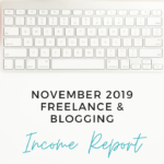 Virtual Assistant Income Report for November 2019